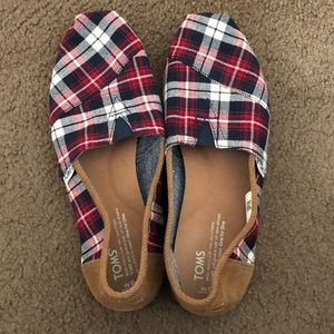 Toms • flannel plaid and corduroy